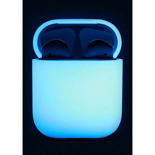 Чехол для Apple AirPods (Elago Silicone Case EAPSC-LUBL) (Nightglow Blue)